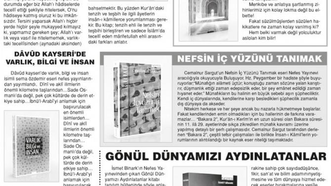 Önce Vatan Gazetesi yazarı Cengizhan Kaya Yayınevimize tam sayfa yer verdi.